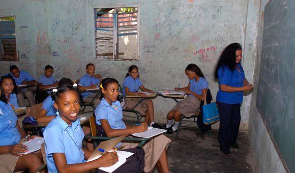 REPUBLICA DOMINICANA, Estado en que se encuentran al gunas de los planteles escolares. Lugar:Republica Dominicana. Foto:Cesar de la Cruz Fecha: